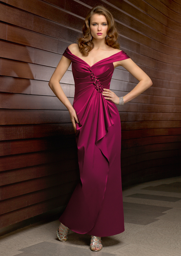 Mori Lee VM 71204 Dress Chiffon Illusion Sleeve A-Line