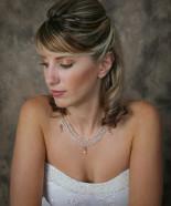 Wedding Hairstyle Y20B – Half Up, Vintage Romantic Look