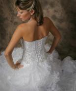 Wedding Hairstyle Y20C – Olivia Half Up, Vintage Romantic Look