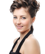 Wedding Hairstyle Y33 – Izabella option 3 Half Up, Vintage Romantic Look