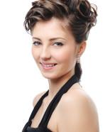 Wedding Hairstyle Y33 – Izabella option 3 Half Up, Vintage Romantic Look