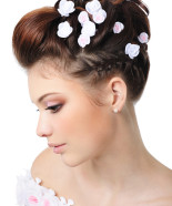 Wedding Hairstyle Y35 – Flowers in your hair