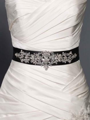 Add sash to your wedding dress