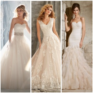 Champagne wedding gown color