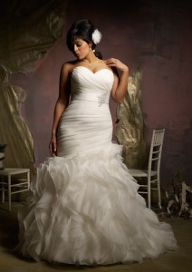 Photo of ivory wedding gown color