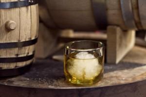 Customized wedding whiskey bar