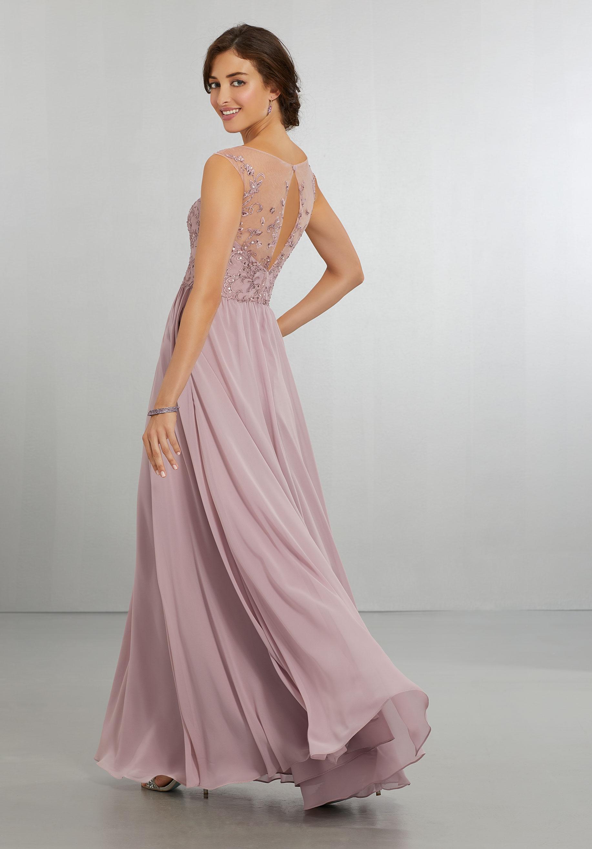 Bridesmaid Dresses By Mori Lee Style 21558 Chiffon Dress