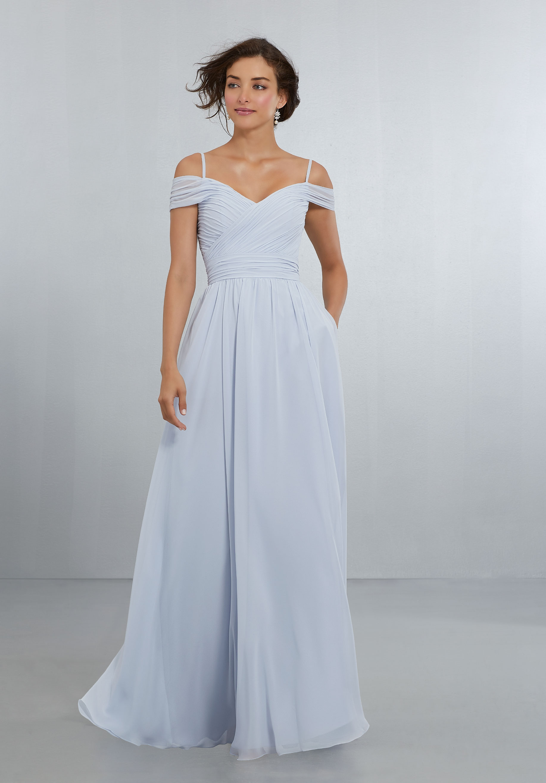 Mori Lee Style No 21566 Chiffon Bridesmaid Dress Draped