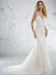 Wedding dress style 6882 by Mori Lee. Crystal Beaded Alençon